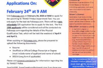 NJ Transit Police Application