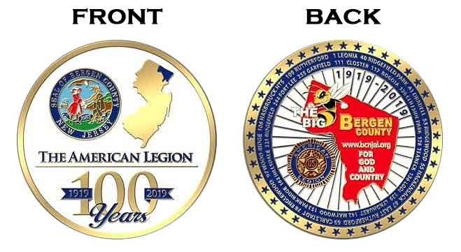 Bergen County American Legion Centennial Coins