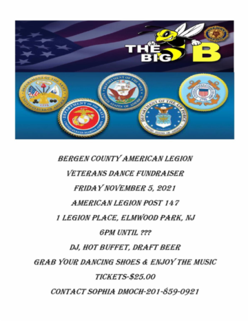 Bergen County american Legion Dance Fundraiser